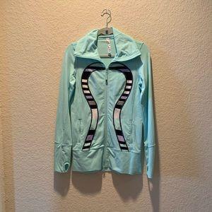 lululemon large logo workout jacket, size 6